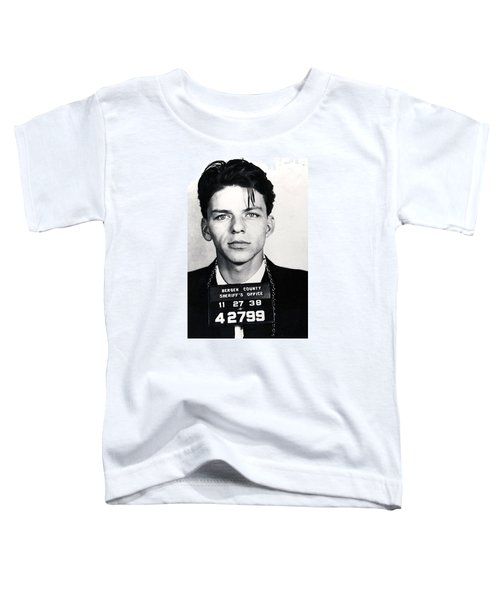 Frank Sinatra Mug Shot Vertical Toddler T-Shirt by Tony Rubino