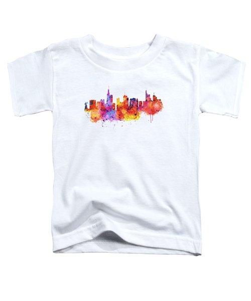 Frankfurt Skyline Toddler T-Shirt by Marian Voicu