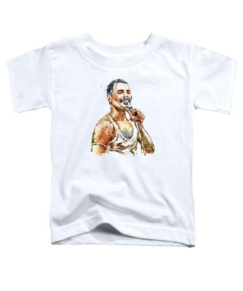 Freddie Mercury Toddler T-Shirt by Marian Voicu