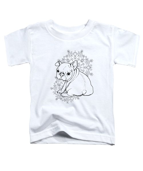 French Bulldog Puppy Toddler T-Shirt by Cindy Elsharouni