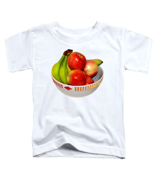 Fruit Bowl Still Life Toddler T-Shirt by William Galloway