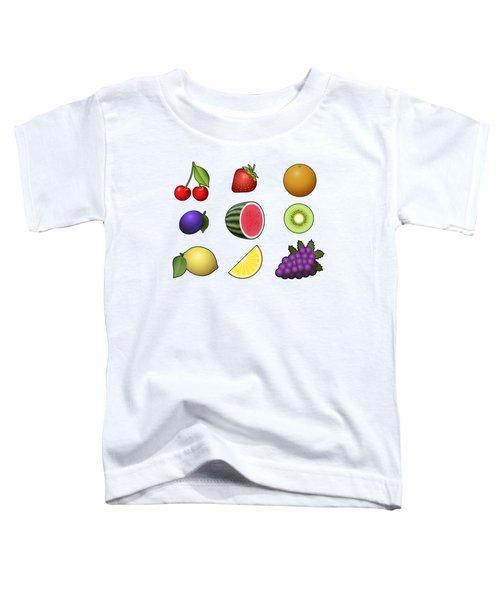 Fruits Collection Toddler T-Shirt by Miroslav Nemecek