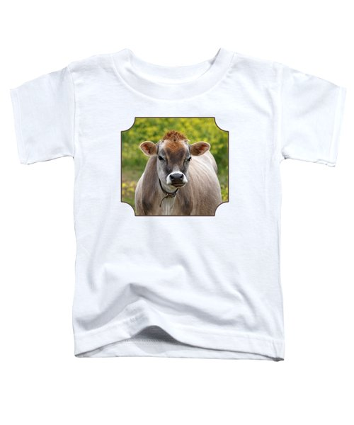 Funny Jersey Cow -square Toddler T-Shirt by Gill Billington