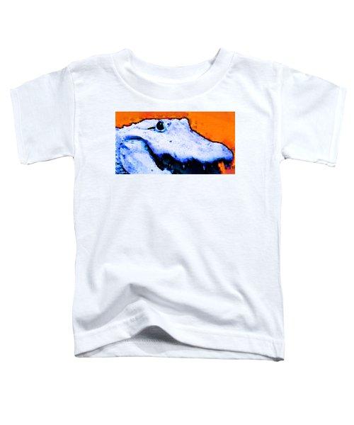 Gator Art - Swampy Toddler T-Shirt by Sharon Cummings