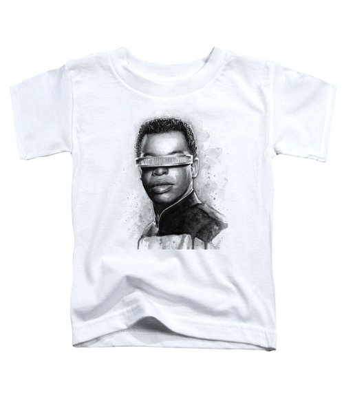 Geordi La Forge - Star Trek Art Toddler T-Shirt by Olga Shvartsur