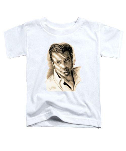 George Clooney Toddler T-Shirt by Gitta Glaeser