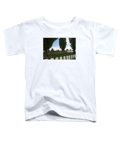 Toddler T-Shirt featuring the photograph German Bunker At Tyne Cot Cemetery by Travel Pics