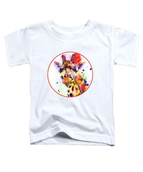 Giraffe Toddler T-Shirt by Isabel Salvador