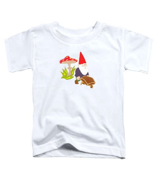 Gnome Garden Toddler T-Shirt by Priscilla Wolfe