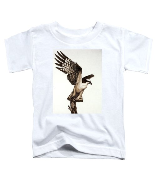 Going Fishin' Osprey Toddler T-Shirt by Pat Erickson