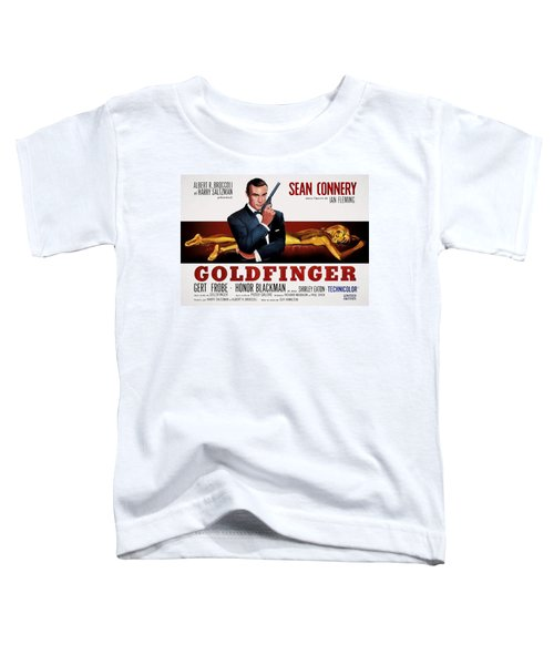 Goldfinger James Bond French Lobby Poster Painterly Toddler T-Shirt by Daniel Hagerman