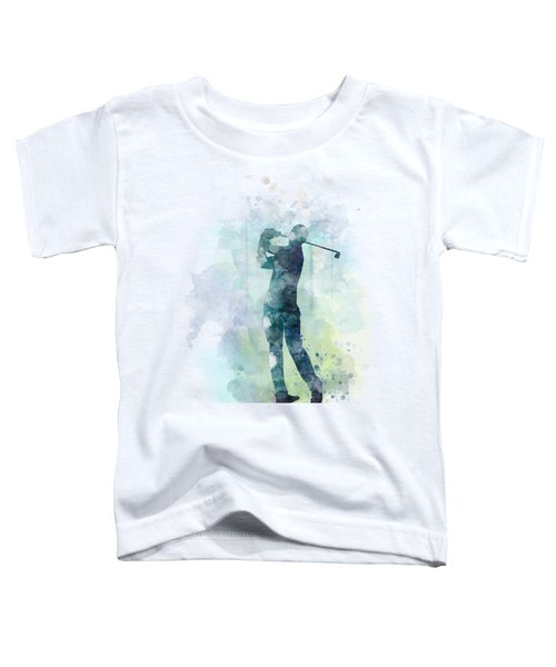 Golf Player  Toddler T-Shirt by Marlene Watson