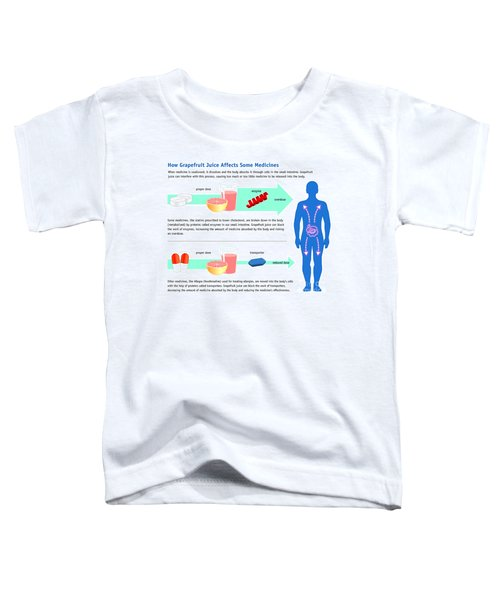 Grapefruit Juice And Medicine Warning Toddler T-Shirt by Science Source