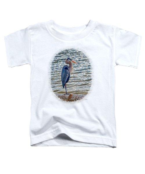 Great Blue Heron Toddler T-Shirt by John M Bailey