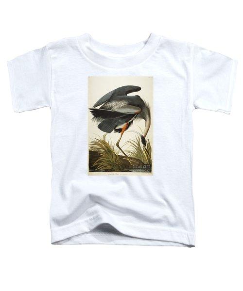 Great Blue Heron Toddler T-Shirt by John James Audubon