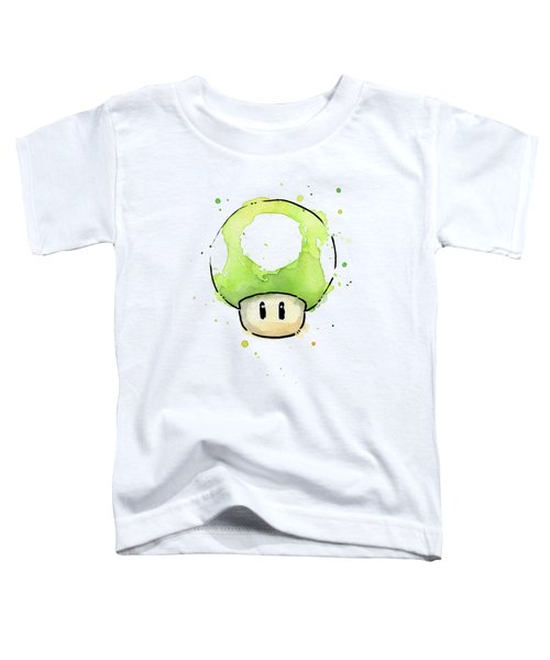 Green 1up Mushroom Toddler T-Shirt by Olga Shvartsur