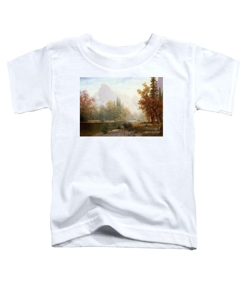 Half Dome Yosemite Toddler T-Shirt by Albert Bierstadt