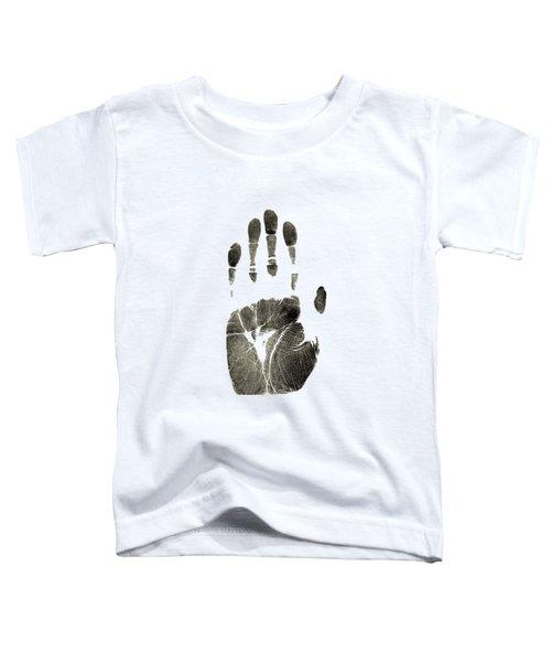 Handprint Phone Case Toddler T-Shirt by Edward Fielding