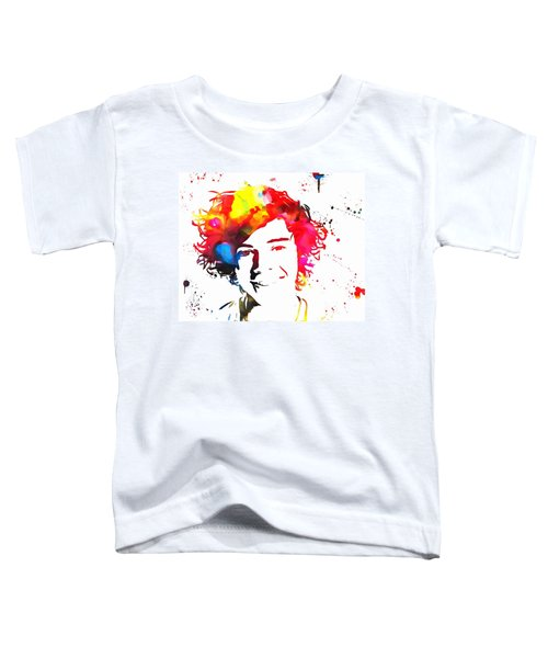Harry Styles Paint Splatter Toddler T-Shirt by Dan Sproul