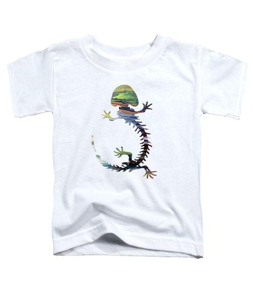 Hellbender Skeleton Toddler T-Shirt by Mordax Furittus