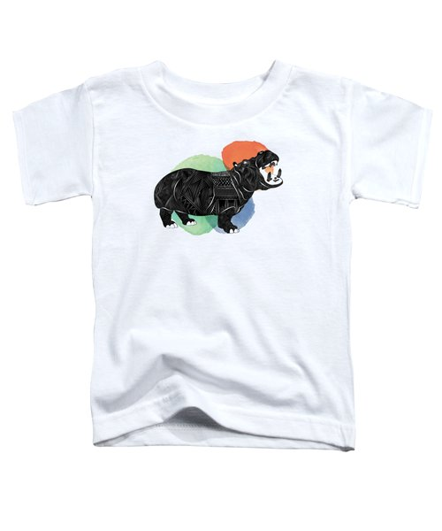 Hippo Toddler T-Shirt by Serkes Panda