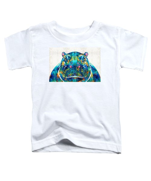 Hippopotamus Art - Happy Hippo - By Sharon Cummings Toddler T-Shirt by Sharon Cummings