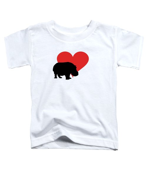 Hippopotamus Toddler T-Shirt by Mordax Furittus