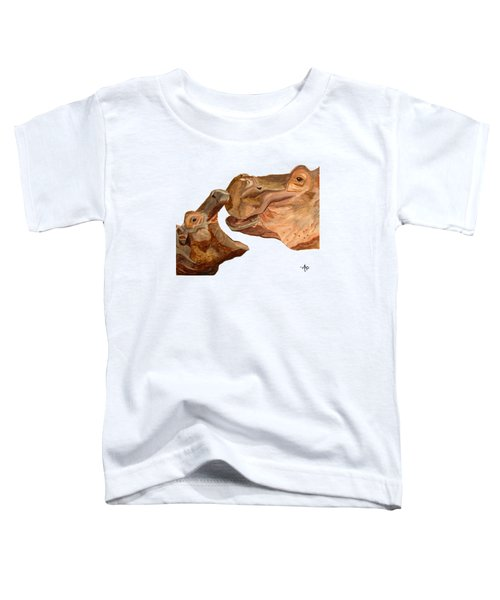 Hippos Toddler T-Shirt by Angeles M Pomata