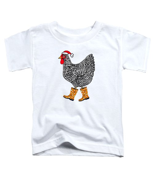 Holiday Sloggers Barred Rock Toddler T-Shirt by Sarah Rosedahl