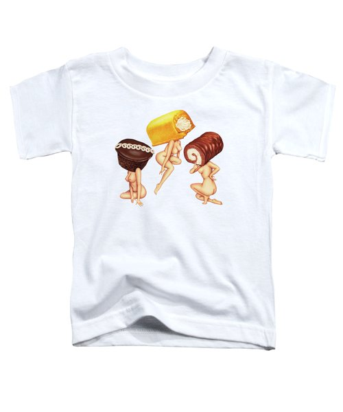 Hostess With The Most Tits Toddler T-Shirt by Kelly Gilleran