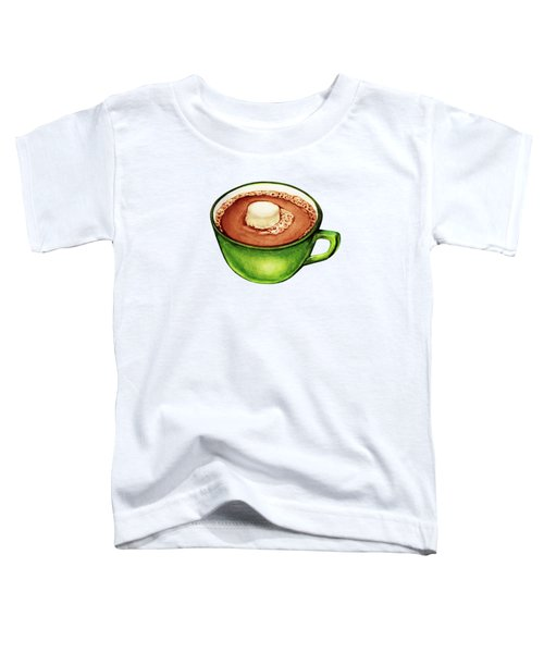 Hot Cocoa Pattern Toddler T-Shirt by Kelly Gilleran
