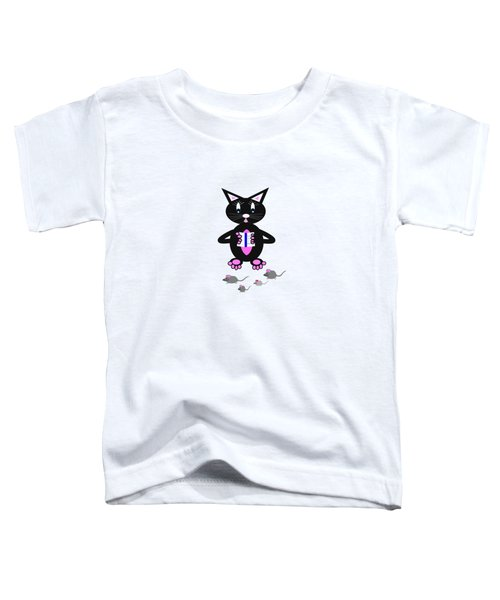 How To Catch A Mouse Toddler T-Shirt by Kathleen Sartoris