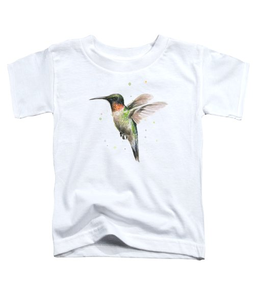Hummingbird Toddler T-Shirt by Olga Shvartsur