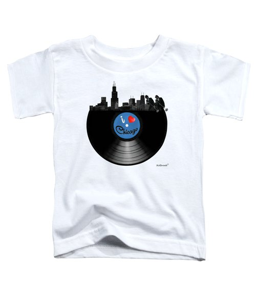 I Love Chicago Toddler T-Shirt by Glenn Holbrook