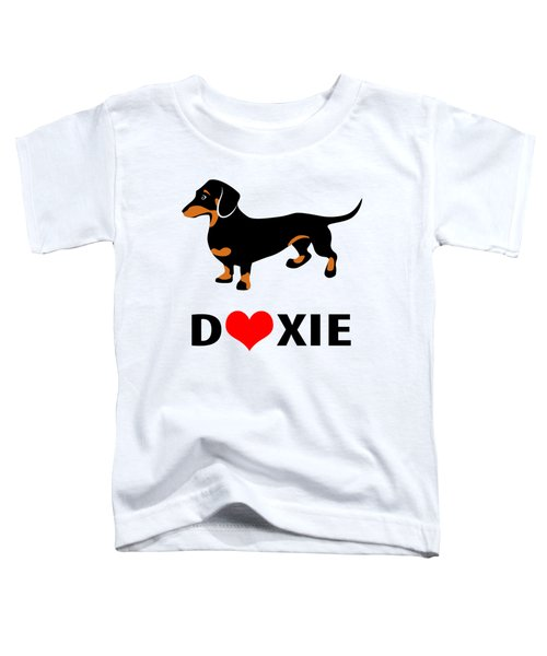 I Love My Doxie Toddler T-Shirt by Antique Images