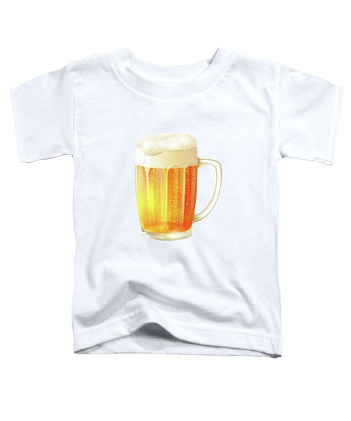 Ice Cold Beer Pattern Toddler T-Shirt by Little Bunny Sunshine