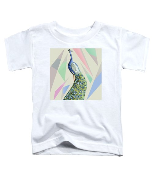 In The Month Of June The Peacock Danced A Toddler T-Shirt by Thecla Correya