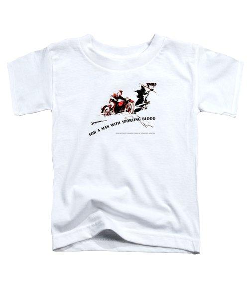 Indian Motorcycle - Sporting Blood 1930 Toddler T-Shirt by Mark Rogan