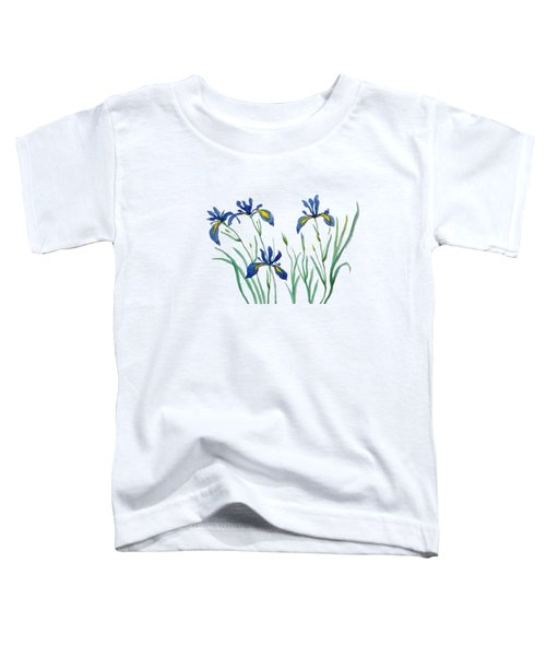 Iris In Japanese Style Toddler T-Shirt by Color Color