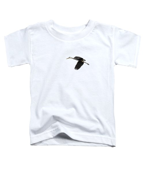 Isolated Great Blue Heron 2015-1 Toddler T-Shirt by Thomas Young
