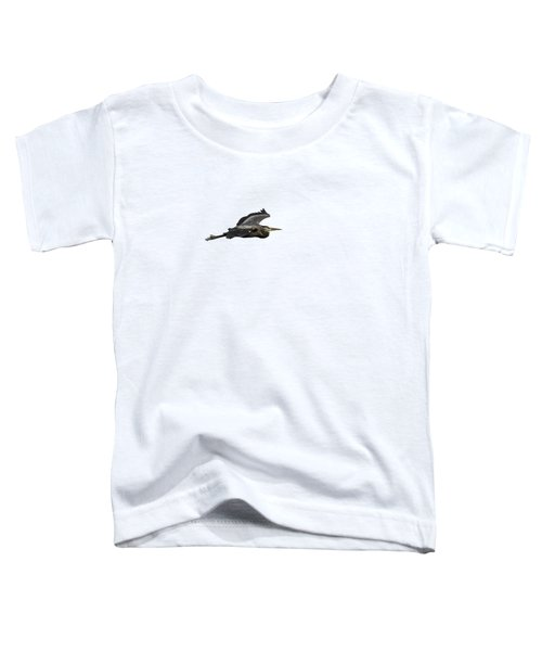 Isolated Great Blue Heron 2015-2 Toddler T-Shirt by Thomas Young
