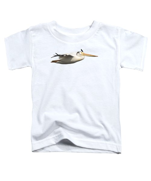 Isolated Pelican 2016-1 Toddler T-Shirt by Thomas Young