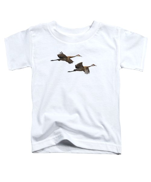 Isolated Sandhill Cranes 2016-1 Toddler T-Shirt by Thomas Young