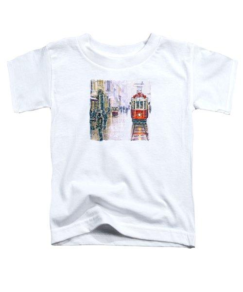 Istanbul Nostalgic Tramway Toddler T-Shirt by Marian Voicu