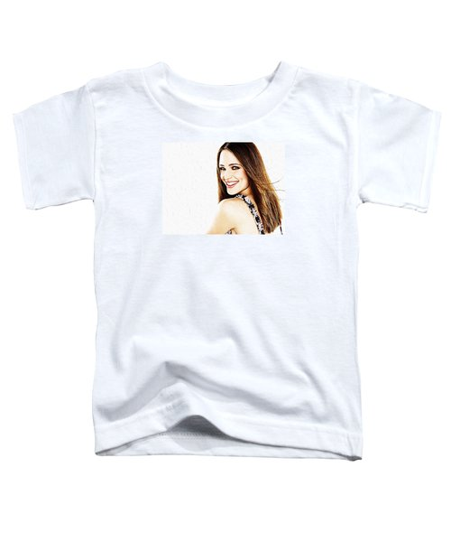 Jennifer Garner Toddler T-Shirt by Iguanna Espinosa