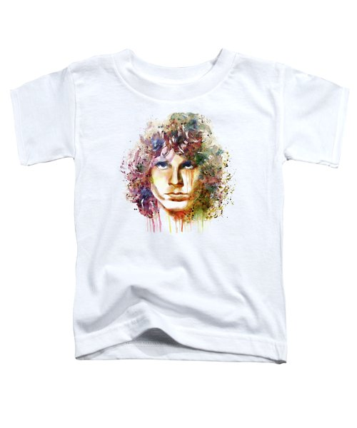 Jim Morrison Toddler T-Shirt by Marian Voicu