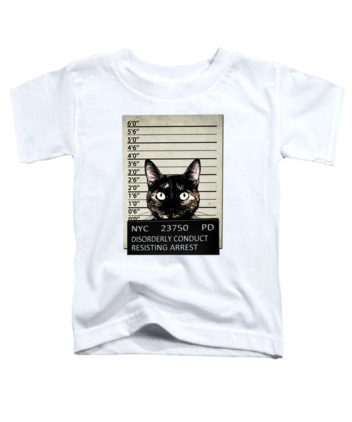 Kitty Mugshot Toddler T-Shirt by Nicklas Gustafsson
