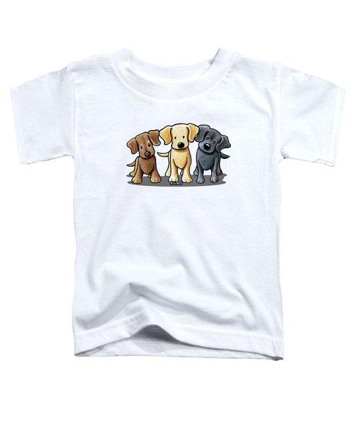 Labrador Beach Trio Toddler T-Shirt by Kim Niles