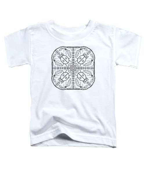 Ladybug Mandala Toddler T-Shirt by Tanya Provines