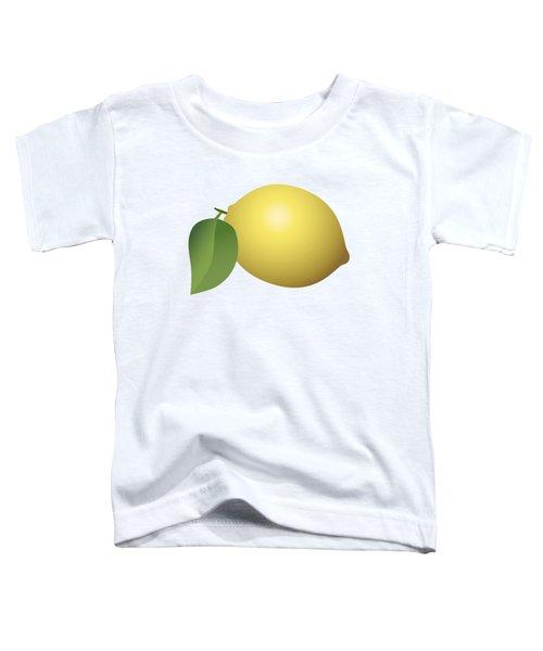 Lemon Fruit Toddler T-Shirt by Miroslav Nemecek